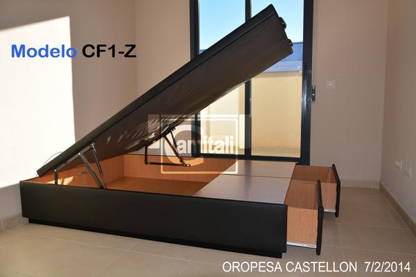 Canap caj n frontal y tapa abatible cf1 z - Cama canape abatible ...