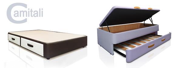 Sof cama sistema italiano y canap s de cajones camitali for Sofa cama con cajones