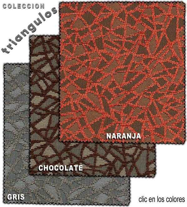 tejido para tapizar sofa cama con dibujos triangulares